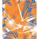 Abstract Blue Orange by trev4000