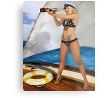 A Splendid View PinUp Metal Print