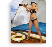 A Splendid View PinUp Canvas Print