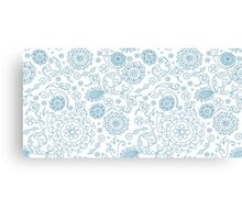 Abstract floral pattern. Cute hand drawn design elements Canvas Print