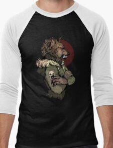 Wolf Rising Brown Men's Baseball ¾ T-Shirt