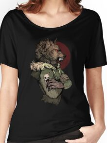Wolf Rising Brown Women's Relaxed Fit T-Shirt