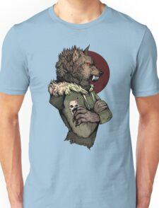 Wolf Rising Brown Unisex T-Shirt