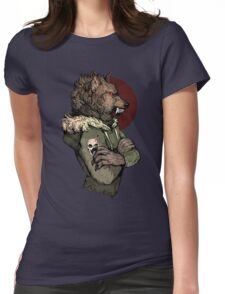 Wolf Rising Brown Womens Fitted T-Shirt