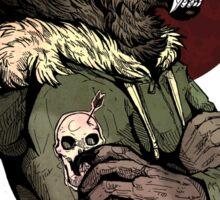 Wolf Rising Brown Sticker