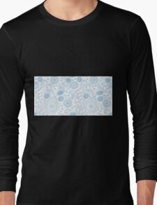 Abstract floral pattern. Cute hand drawn design elements Long Sleeve T-Shirt