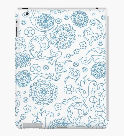 Abstract floral pattern. Cute hand drawn design elements iPad Case/Skin