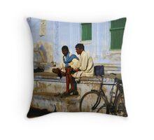 Locals in Jodhpur, India Throw Pillow