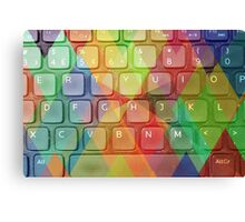 Keyboard + Triangles Canvas Print