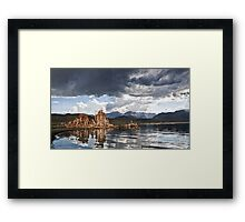Sunset At Mono Lake.  Framed Print