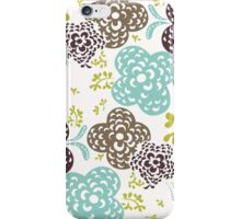 Seamless floral pattern with cute flowers on a white background iPhone Case/Skin