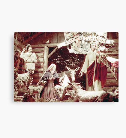Nativity Scene, Montreal, 1955 Canvas Print