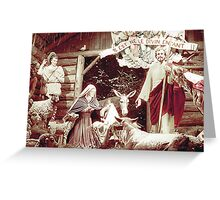 Nativity Scene, Montreal, 1955 Greeting Card