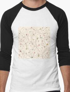 Abstract curly pattern Men's Baseball ¾ T-Shirt