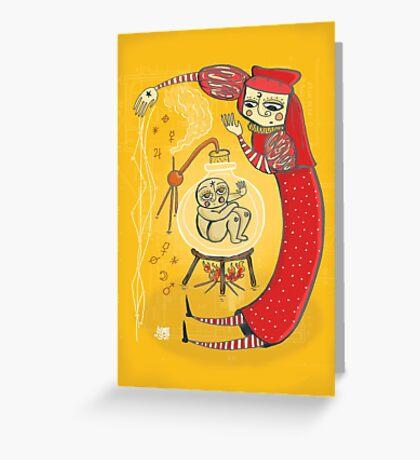 medieval Magic baby!! Greeting Card