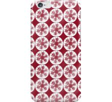 Red Snowflakes on White iPhone Case/Skin