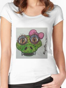 reptile cute Women's Fitted Scoop T-Shirt