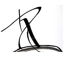 Calligraphy Art, Black & White Abstract Art, Japanese-Inspired  Ink Pianitng Photographic Print