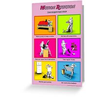 Motion Rotation - Life working from home (pink/red) Greeting Card
