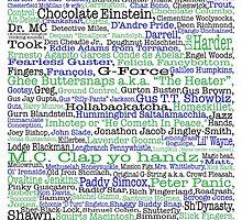 Psych tv show poster, nicknames, Burton Guster by happyyakk