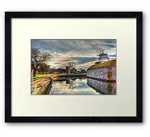 Scenic View of Moat at Fort Monroe Framed Print