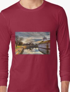 Scenic View of Moat at Fort Monroe Long Sleeve T-Shirt