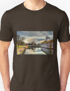 Scenic View of Moat at Fort Monroe T-Shirt