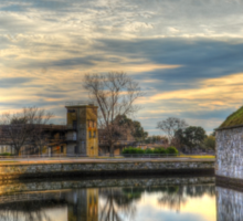 Scenic View of Moat at Fort Monroe Sticker