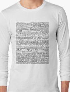Psych tv show poster, nicknames, Burton Guster Long Sleeve T-Shirt