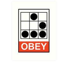 Obey Hacker Art Print