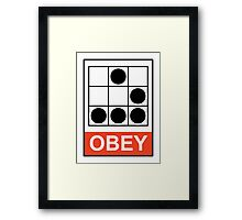 Obey Hacker Framed Print