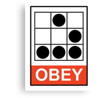 Obey Hacker Canvas Print