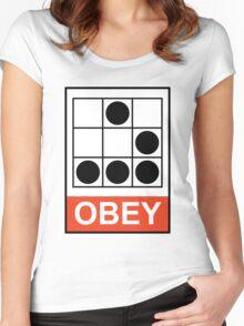 Obey Hacker Women's Fitted Scoop T-Shirt