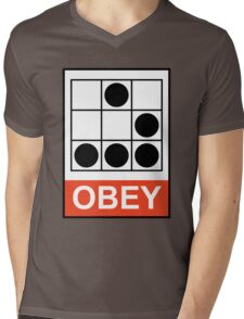 Obey Hacker Mens V-Neck T-Shirt