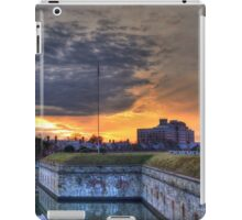 Sunset View of Moat at Fort Monroe iPad Case/Skin