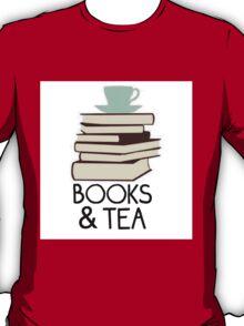 Books and tea des T-Shirt