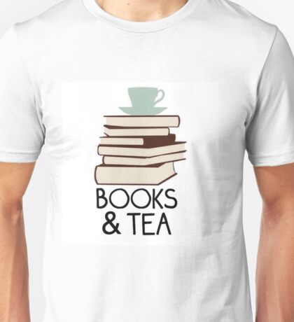 Books and tea des Unisex T-Shirt