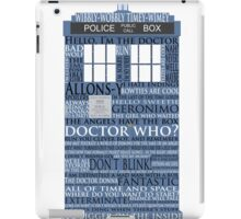 Dr. Who Whovian fans iPad Case/Skin