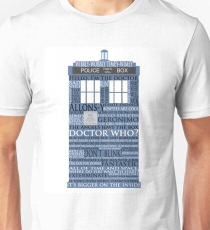 Dr. Who Whovian fans Unisex T-Shirt