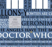 Dr. Who Whovian fans Sticker