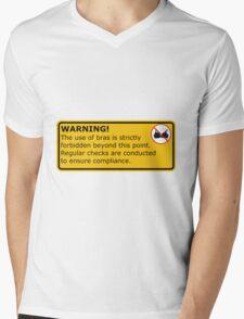 No Bras! Mens V-Neck T-Shirt