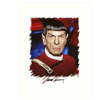 Leonard Nimoy - Mr Spock Digital Painting Signed Photo - Star Trek  autograph Art Print