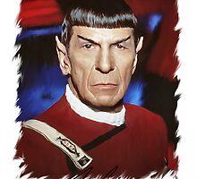 Leonard Nimoy - Mr Spock Digital Painting Signed Photo - Star Trek  autograph by verypeculiar