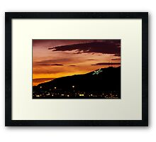 El Paso's Star on the Mountain Framed Print