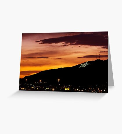 El Paso's Star on the Mountain Greeting Card