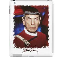 Leonard Nimoy - Mr Spock Digital Painting Signed Photo - Star Trek  autograph iPad Case/Skin