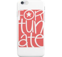 Fortunate, blessed, happy, cheerful, pink pink iPhone Case/Skin