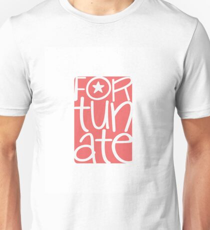 Fortunate, blessed, happy, cheerful, pink pink Unisex T-Shirt