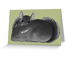Chinchilla naptime Greeting Card