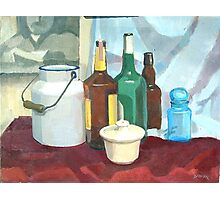 College Beverage Still Life Photographic Print